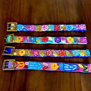 Handmade 100% alpaca wool embroidered belt